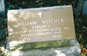 William Witcher grave marker