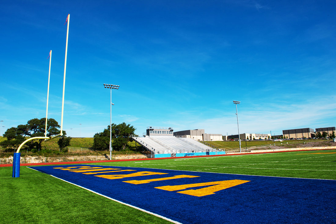 Lago vista high school stadium lago vista texas for Lago vista builders