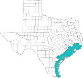 Gulf Coast Texas Map