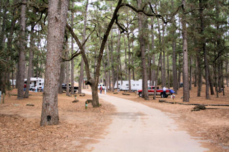 Bastrop State Park. Bastrop, Texas. Copperas Creek Camping Area