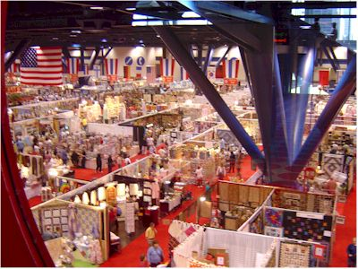 ... Convention Center Houston, Texas. A bird's eye view of part of the over 1000 vendors